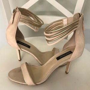 "WHBM Larissa Cosmetic Pale Pink Heels 3.75"" 8.5 M"